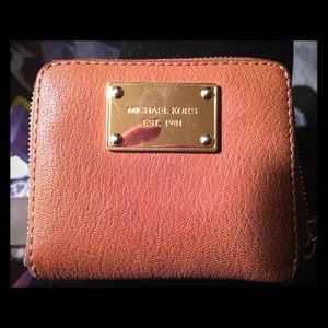 Michael Kors camel colored leather wallet